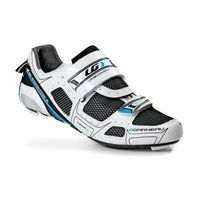 Louis Garneau Womens Tri Lite Cycling Shoes - White with Black and Blue Size 42