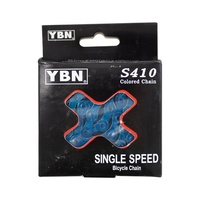 YBN S410 Turquoise Blue Bike Chain - BMX, Fixie, Single Speed. 1/2 x 1/8 x 116L