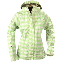 Didriksons 1913 Tigris Women's Storm Proof Jacket - Green Check Jacket - Size 44
