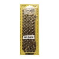 YBN SH410 Single Speed Track Chain - 1/2 X 1/8 110 Links - Gold Bike Chain