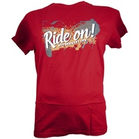 SKS Germany Herren Ride On T-Shirt - Tango Red T Shirt