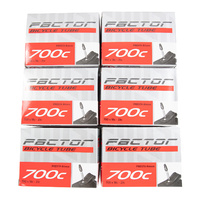 5 x Factor Road Bike Race Inner Tubes 700 x 18-23c Long 80mm Presta Valve