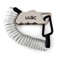 ULAC Piccadilly Karabiner Cable Combo Lock - Silver 4mm x 120cm Bike Lock