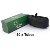 10 x X-Tech Bike Tubes Size 700 x 19-23c with 48mm Presta Valve - Bulk Buy