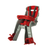 OK Baby Orion Front Mount Baby Bike Seat - Grey and Red Baby Bicycle Seat