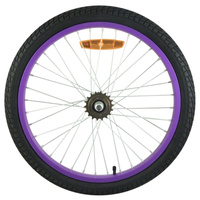 Kids BMX Rear Wheel 18t - 20 x 1.95 Purple - Bike Wheel - Tyre - Tube - NEW