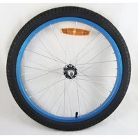 Kids BMX Front Wheel 20 x 1.95 Blue - Bike Wheel - Tyre - Tube - NEW