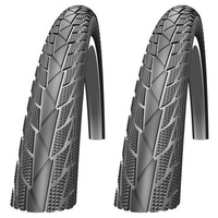 2x (PAIR) Impac StreetPac 700 x 35c Road Bike Tyres - Black Road Tires