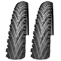 "2x (PAIR) Impac CrossPac MTB / Cross Country Tyres 26 x 2.00"" Black Bike Tires"