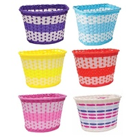 Oxford Children's Woven Plastic Bicycle Basket - Bike Basket Various Colours