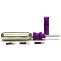 Dynaplug PURPLE Air Tubeless Tyre Repair Inflator Kit + 1 Free CO2 Cartridge