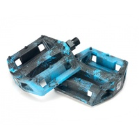 "Mission Impulse 9 /16""  BMX Pedals - Black / Blue Splash"