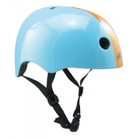 PIT Urban Skate Scooter BMX Bike Helmet - Gloss Sky Blue / Gloss Orange