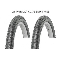 "2x (PAIR) ECI Comp 3 20 x 1.75"" BMX Tire / Bike Tyres 20 inch - Black"
