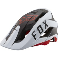 Fox Metah Flow Mountain Bike Helmet White / Black / Red - MY2017 MTB Helmet