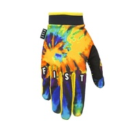 Fist Handwear Tie Dye Orange Slip On Motocross Dirt Bike BMX MTB Bike Gloves