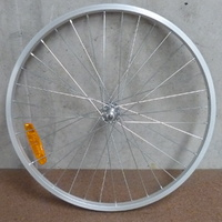 "MTB Front Wheel 24"" x 1.5 Silver - 3/8 Axle - Bike Wheel -  NEW"
