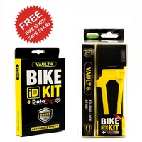 Vault Folding Lock + Bike ID Kit +Data Dot Technology Bike ID Protection Yellow