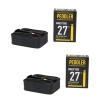 "2 x Bike Peddler 27"" x 1 1/4""  Bike Tubes Schrader 48mm Valve Tubes"