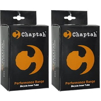 2 x Chaptah Bike Tube - 700 x 32-38 - Presta Valve - 48mm