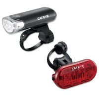 Cateye 150 Lumen Front and Rear Bike Light Set Black - HL-EL135 / Omni 3