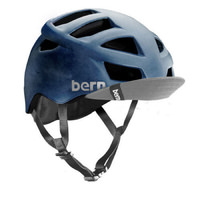Bern Allston Bike Helmet - Matte Blue Acid Wash [Size: Small/Medium]