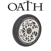 Oath Scooter Wheels - PAIR - Bermuda - Alloy Core - 110mm - Neo Silver