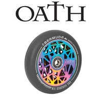 Oath Scooter Wheels - PAIR - Bermuda - Alloy Core - 110mm - Neo Chrome