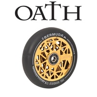 Oath Scooter Wheels - PAIR - Bermuda - Alloy Core - 120mm - Neo Gold