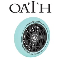 2 x (PAIR) Oath Bermuda Alloy Core Scooter Wheels 120mm - Black/Pastel Teal