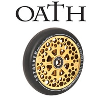 2 x (PAIR) Oath Stalker Alloy Core Scooter Wheels 115mm - Neo Gold