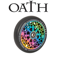 2 x (PAIR) Oath Stalker Alloy Core Scooter Wheels 115mm - Neo Chrome
