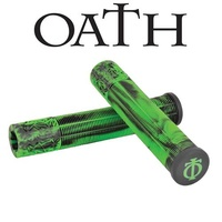 Oath Scooter Grips - Bermuda - 165mm With Bar Ends - Green/Black Marble