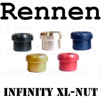 RENNEN Infinity Alloy 4 Chain Ring Nut XL - Raw (Silver)
