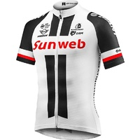 Giant Team Sunweb Cycling Jersey - White / Red / Black Bike Jersey