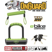 OnGuard E-Bike Lock - 8006E - Pitbull Series Keyed Mini U-Lock - 9 x 14cm