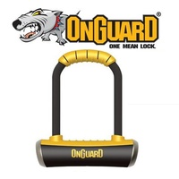 OnGuard Bike U-Lock - 8006M - Pitbull - Medium - Keyed - 9cm x 17.5cm D 14mm