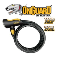 OnGuard Bike Lock - 8024 - Rottweiler - Armoured Cable - Keyed - 120cm x 25mm