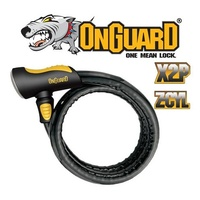 OnGuard Bike Lock - 8026 - Rottweiler - Armoured Cable - Keyed - 100cm x 20mm
