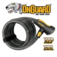 OnGuard Bike Lock - 8027 - Doberman - Coiled Cable - Keyed - 185cm x 15mm