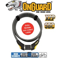OnGuard Bike Lock - 8041 - Akita - Coiled Cable - 185cm x 12mm