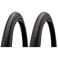 "2x (PAIR) Duro 18 x 1.75"" City Tread Bike Tyres - HF-160A Bike Tires"