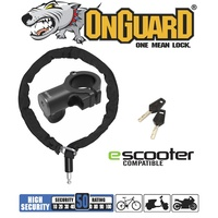OnGuard E-Scooter Lock - 8290 - Keyed Chain Lock - 90cm x 4mm