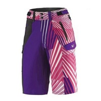Liv Tangle Baggy Short - Purple / Multicoloured Ladies Bike Shorts