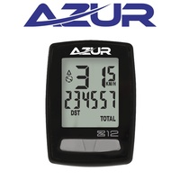 Azur Cycling Computer - 12Z Wireless 12 Function - Slim Design