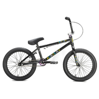 Academy BMX Bike - 'Inspire 18' - 18TT - Gloss Black / Rainbow