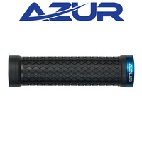 Azur Bike/Cycling Grips - Atom - 130mm - Black/Blue