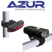 Azur Bike/Cycling Light Set - USB Charge - 400 Lumens