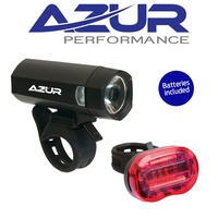 Azur Bike Light Set - Blaze - Battery Powered - 40/25 Lumen