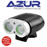 Azur Twin Deluxe Headlight - 2200 Lumen - Black